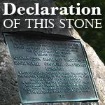 Declaration of this Stone